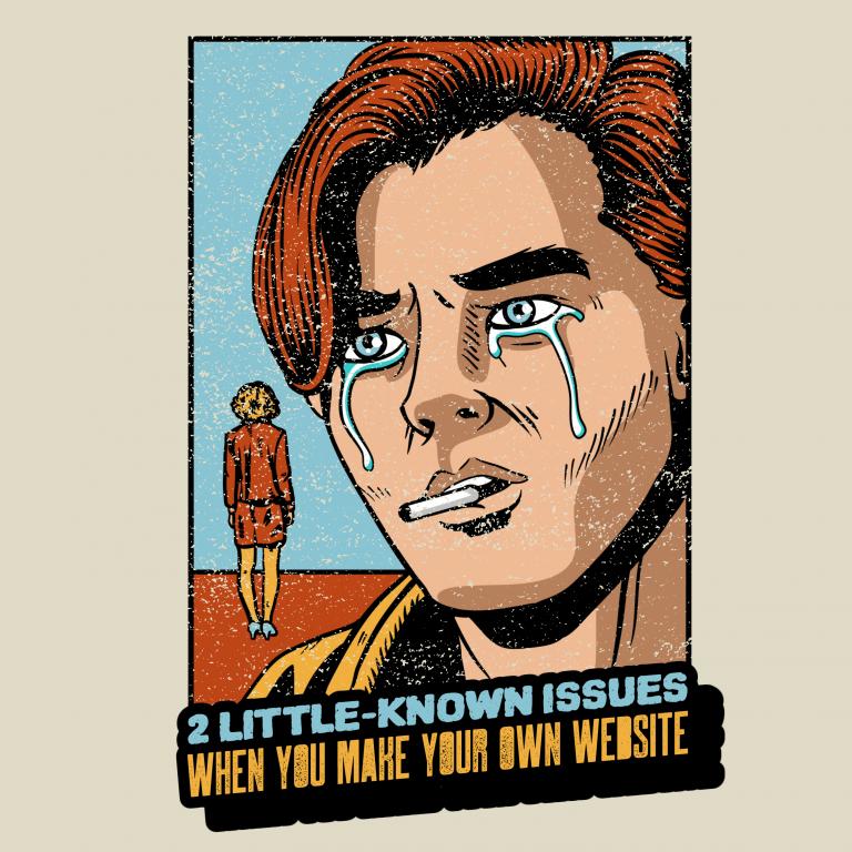 make your own website vintage comic