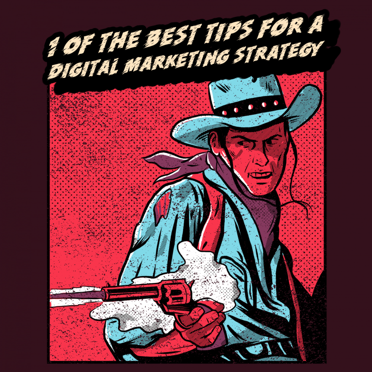 digital marketing strategy vintage comic