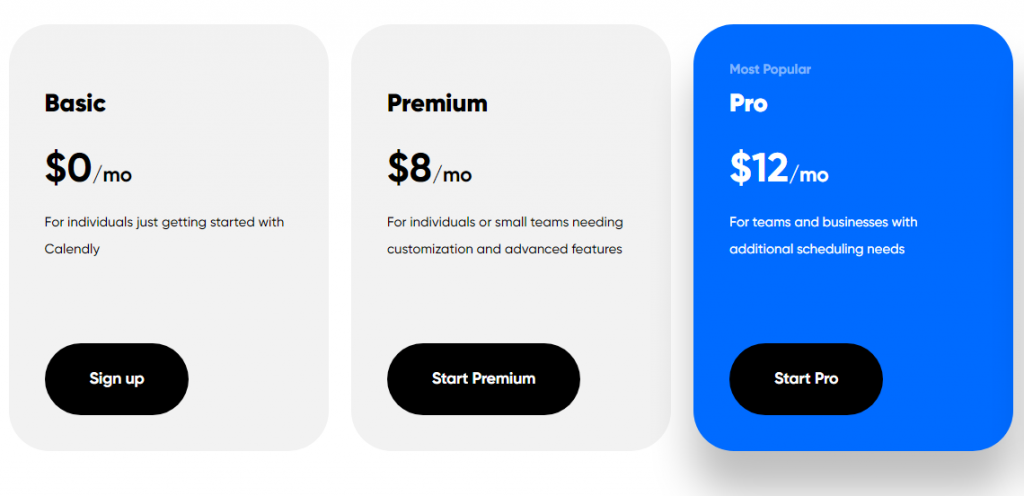 tattoo scheduling software pricing with calendly