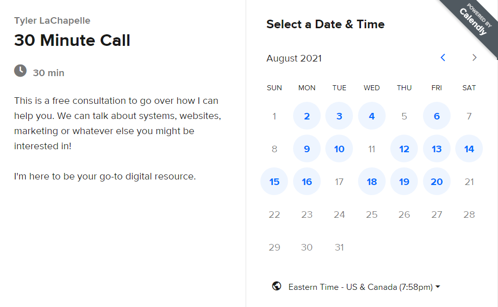 tattoo scheduling software with calendly